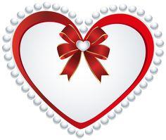 Deco Heart Transparent PNG Clip Art Image