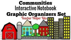 """Communities Interactive Notebook-Graphic Organizers SetIncludes:Suburb Bubble MapRural Bubble MapUrban Bubble MapMap Flaps- Two Sets to a pageRural & Urban Venn FlapbookRural & Suburb Venn FlapbookSuburb & Urban Venn FlapbookMy Communites Book CoverTerms of Use/CreditsInstructions for Each MapNote: I also included the use of the word """"suburban"""" so you can choose the graphic organizer of your choice.***Become a follower to learn when I upload more Communities units."""