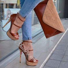 high heels – High Heels Daily Heels, stilettos and women's Shoes Platform Stilettos, Pumps Heels, Stiletto Heels, Gladiator Heels, High Heel Boots, Shoe Boots, High Heels Plateau, Brown Heels, Lace Up Heels