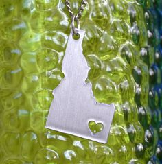 Idaho HEART Pendant On 18inch Chain. $32.00, via Etsy. Heart needs to be a little higher...