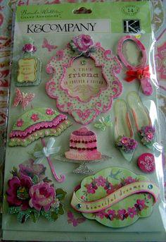 Cute wedding scrap book stickers