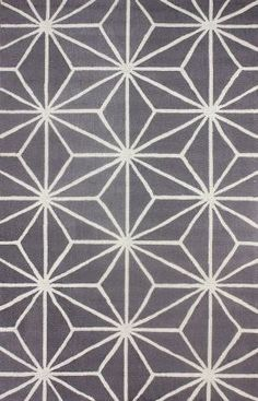 Rugs USA Radiante BC56 Star Trellis Grey Taupe Rug - not wool, polypropylene, cheaper star trellis version. 60% off!