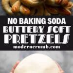 soft pretzels without baking soda with a title text overlay Easy Delicious Recipes, Yummy Food, Pretzel Cheese, Baking Soda Bath, Text Overlay, Easy Family Dinners, Soft Pretzels, Dry Yeast