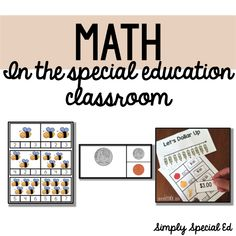 Math task boxes and activities for special education
