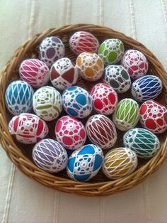 Easter Crochet Patterns, Crochet Motif, Decor Crafts, Diy And Crafts, Egg Tree, Holiday Crochet, Crochet Snowflakes, Egg Decorating, Easter Crafts