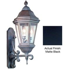 "Troy Lighting BCD6831 Verona 2 Light 25"" Outdoor Wall Sconce with Seedy Glass Matte Black Outdoor Lighting Wall Sconces Outdoor Wall Sconces"
