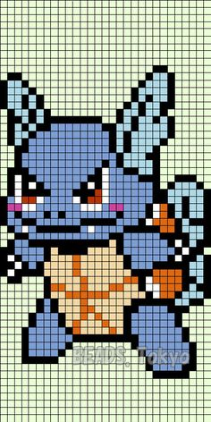 Wartortle parlor beads for the design of the Pokemon ! The last time , but I made a parlor beads of Squirtle species Pokemon , this time made ​​a Wartortle after evolution ! Since the idea strength… Pokemon Perler Beads, Hama Beads, Beaded Cross Stitch, Cross Stitch Patterns, Pokemon Pokedex, Art Pokemon, Bulbasaur Evolution, Pixel Art, Cross Stitching