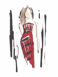 Hilary Macmillan by Stephanie McKay Curated.Works: World MasterCard Fashion Week F/W 2014 LIVE Runway Sketches (Day 5)
