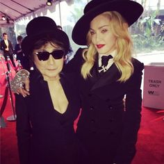 """Perfect match! Pop culture icons Yoko Ono and Madonna suited up for a friendly snapshot, posted onto Sean Lennon's Instagram account. """"Amazing!!!!"""" he wrote. Madonna Family, Chrissy Teigen Photos, Sean Lennon, Celebrity Selfies, Madonna 80s, Joe Cocker, Yoko Ono, Material Girls, Celebs"""