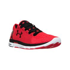 Under Armour Men's Speedform Slingshot Running Shoes, Black|Red ($140) ❤ liked on Polyvore featuring men's fashion, men's shoes, men's athletic shoes, mens athletic shoes, mens leopard print shoes, mens black athletic shoes, mens shoes and under armour mens shoes