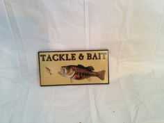 Wooden Tackle and Bait Fishing Sign Home or Camp by 1UniqueAntique, $20.00