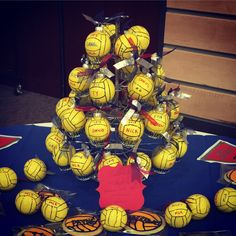 Water polo Christmas ornaments I made for end of season banquet