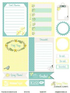 Free Spring Posies Journal Cards and Labels from Vintage Glam Studios