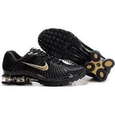 beca8052917 Nike Shox R4 black gold Original Air Jordans