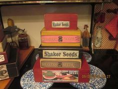 SHAKER BOXES FARMHOUSE PRIMITIVES FROM THE PAST