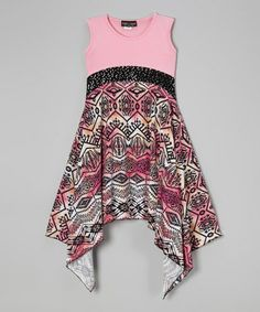 Another great find on #zulily! Pink Tribal Handkerchief Dress by Lori & Jane #zulilyfinds