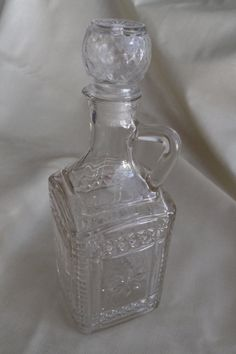 Vintage Glass Decanter with stopper by HapevilleVintage on Etsy