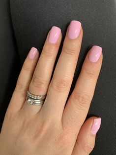 Short pastel pink Summer gel nails - New Ideas Ongles Rose Pastel, Pastel Pink Nails, Summer Gel Nails, Gel Nails At Home, Pink Acrylic Nails, Shellac Nails, Short Pink Nails, Short Gel Nails, Design Ongles Courts