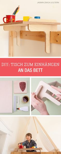 DIY-Anleitung zusammen mit Eltern.de: Tisch fürs Kinderbett bauen, Kinderzimmer einrichten / children's room diy: craft a table for the kid's bed via DaWanda.com
