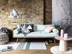 Pretty and pale shades soften the exposed and industrial features of this Warehouse space. We transform this Warehouse Home for easy summer living in issue four of Warehouse Home interior design magazine
