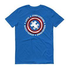 Superhero Captain Autism Shirt - Autism Awareness Day 2017
