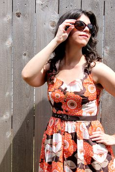 Sassy Seventies look featuring the Biking Through Brussels Dress in Bloom from ModCloth's first ever namesake label! #modcloth