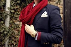 dressed up. I absolutely love men that rock scarves.