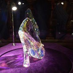 Stunning Cinderella Swavoski glass slipper from Cinderella movie #Disney #Cinderella #Swarovski #Disneyprincess