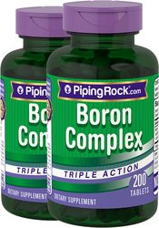 Boron Complex 3 mg Triple Action 200 Capsules | Buy Boron | PipingRock Health Products Health Benefits Of Asparagus, Magnesium Citrate, Organic Formula, Supplements Online, Muscle Contraction, Wellness, Pills, Health Products, Health And Wellness