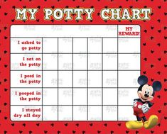 Free Potty Training Chart Awesome Mickey Mouse Potty Training Chart Free Punch by Potty Training Reward Chart, Toddler Potty Training, Toddler Discipline, Toilet Training, Toddler Fun, Kids And Parenting, Parenting Win, Parenting Advice, Mickey Mouse