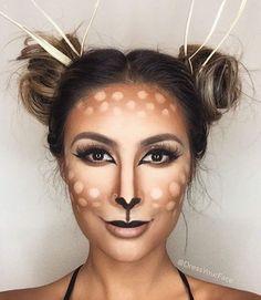 Pretty Deer Makeup  #Halloween #Costumes #HalloweenCostumesForFamily Sherman Financial Group