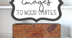 How To Transfer Images To Wood Crates Once upon a time there was a girl who loved cool old junk. One day her village decided to get rid of a. Woodworking Logo, Cool Woodworking Projects, Woodworking As A Hobby, Woodworking Supplies, Wood Projects, Woodworking Chisels, Woodworking Patterns, Woodworking Classes, Woodworking Bench
