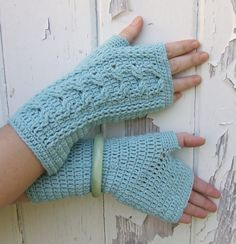 You Need Cable Mitts, Crochet Pattern (PDF file) Crochet Cable, Crochet Gloves, Mitten Gloves, Mittens, Crochet Patterns, Crochet Ideas, Finger Weights, Crafty Projects, Crochet Crafts