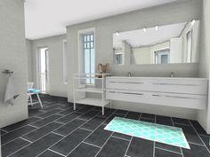 Post by Marit Skei - #RoomSketcher Pro User - featuring her modern bathroom design (http://nr14.wordpress.com/2012/07/18/bad-4/)