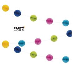 Multicolour Honeycomb Garland - Party World