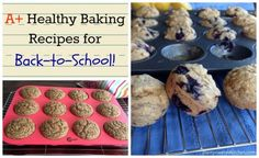 A+ Healthy Baking Recipes for Back-to-School - all recipes #vegan, #nutfree, and whole foods! by Dreena Burton, plant-powered kitchen.