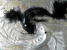 Painting Yin Yan White Black Fish 3D Plast Painting Energetic