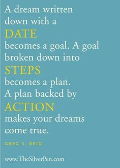 Dreams with Date. Goals with Steps. Plans with Action.