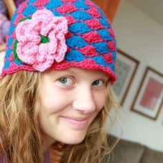 Instant Download  Crochet Hat Pattern  Angela Hat with by Mamachee, $5.50