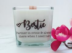 NEW Bestie Soy Candle~ Best Friend Wedding Gift~ Friend Birthday Gift~Maid of Honor Gifts~Bridesmaids Boxes~Sister Gift~Friendship Gifts Best Friend Wedding Gifts, Friend Birthday Gifts, Maid Of Honour Gifts, Maid Of Honor, Wedding Favors For Men, Order Of Wedding Ceremony, Wedding Quotes, Wedding Things, Card Box Wedding