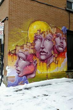 Street art in Montréal, rue waverly mars 2015