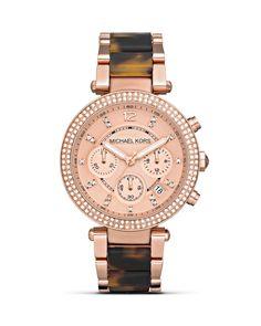 Michael kors rose gold watch - amazon.