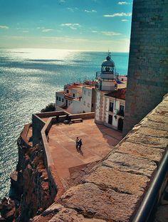 Mar desde el Castillo de Peñiscola (Castellon - Spain)   Flickr