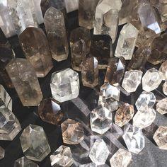 In crystal heaven today  #crystals #smokyquartz #sf