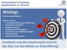 Facebook: Gewinnspiele in Facebook – Vergleich Durchführung mit Applikationen vs. Chronik