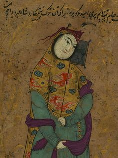 "magictransistor: "" Reza Abbasi. Lady With A Fan. Safavid Period. 1500s."