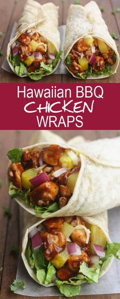 Hawaiian BBQ Chicken Wraps that very delicious. Please find detail and step to make this delicious recipe by visit to affected blog. #hawaiian #bbqrecipes #chickenfoodrecipes #breakfastrecipes