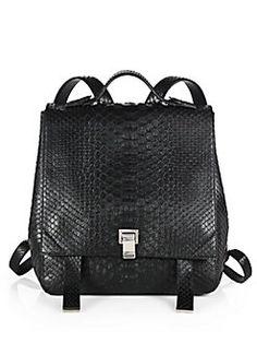 Proenza Schouler - Large Python Backpack
