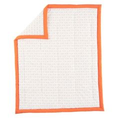 Our examplary Iconic Baby Bedding will match nearly any decor.  The baby quilt features a slew of orange arrows on a white background and a matching orange trim.  The fitted crib sheet is available in an arrow print or solid orange, so you can change up your crib's look.  Add the coordinating crib skirt to complete the look.
