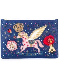 rocking pony patch clutch - Dolce & Gabbana